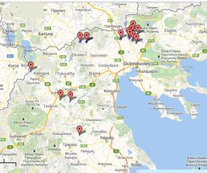 από τις 19 Οκτωβρίου 2012 μέχρι σήμερα έχουν ανευρεθεί δεκαεπτά (17) επιβεβαιωμένα θετικά ζώα στις Π.Ε. Κοζάνης, Καστοριάς, Κιλκίς, Πέλλας και Τρικάλων (Πίνακας 1).